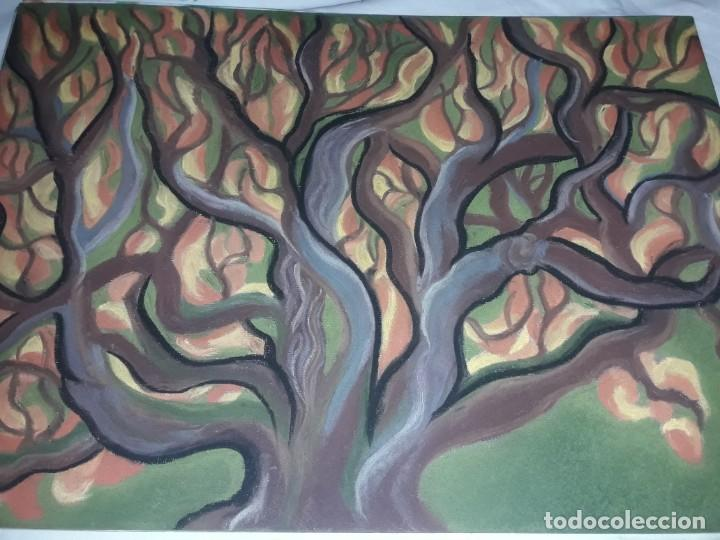 Arte: Bella pintura El arbol del bosque a pastel 2002 - Foto 4 - 197755250