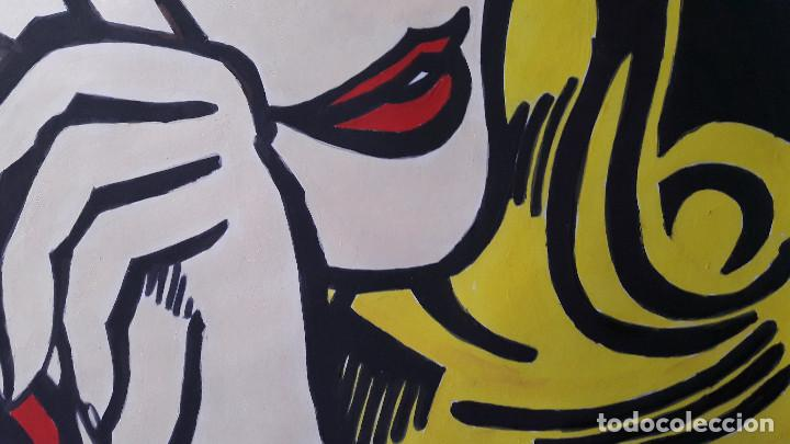 Arte: MANOLO IBÁÑEZ. MUJER LLORANDO. ACRÍLICO SOBRE CARTULINA 65 X 50 CM - Foto 5 - 197764385