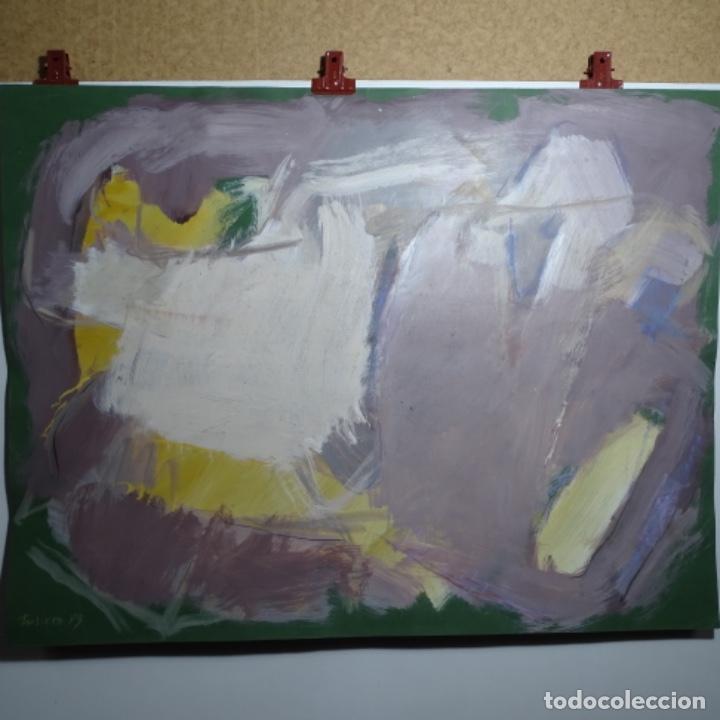 GRAN ÓLEO ABSTRACTO DE ELVIRA FUSTERO.1989. (Arte - Pintura - Pintura al Óleo Contemporánea )