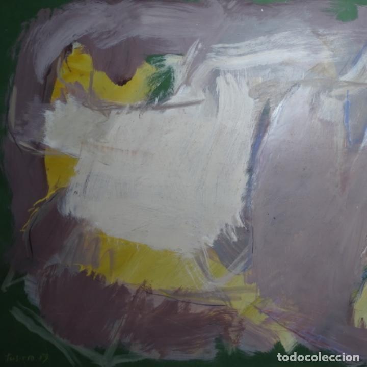 Arte: Gran óleo abstracto de Elvira fustero.1989. - Foto 2 - 197814308