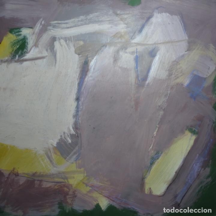 Arte: Gran óleo abstracto de Elvira fustero.1989. - Foto 3 - 197814308