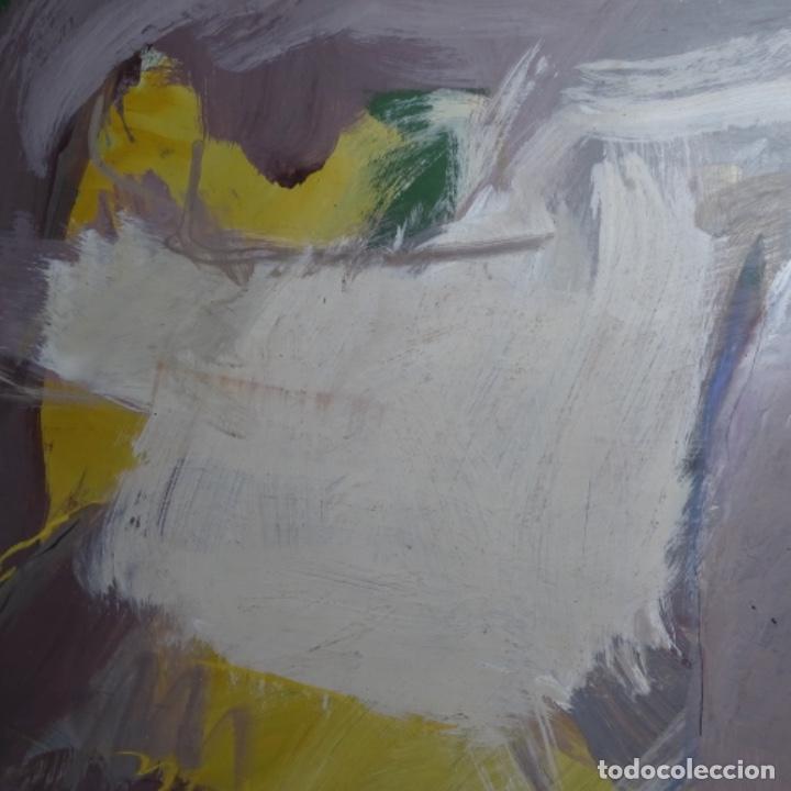 Arte: Gran óleo abstracto de Elvira fustero.1989. - Foto 4 - 197814308