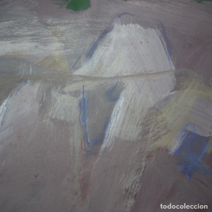 Arte: Gran óleo abstracto de Elvira fustero.1989. - Foto 5 - 197814308