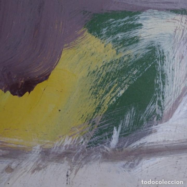 Arte: Gran óleo abstracto de Elvira fustero.1989. - Foto 8 - 197814308