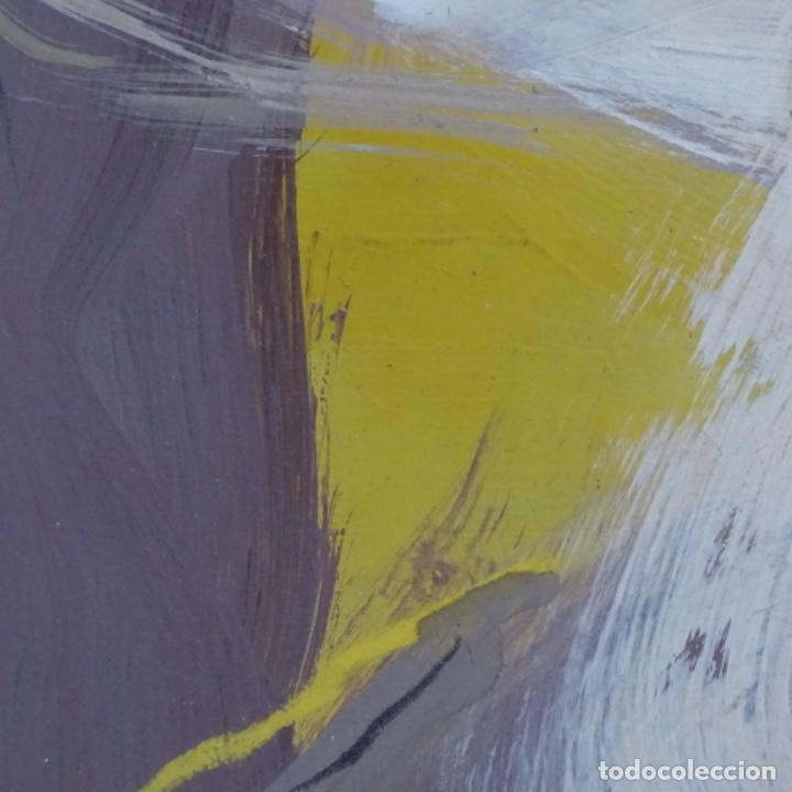 Arte: Gran óleo abstracto de Elvira fustero.1989. - Foto 9 - 197814308