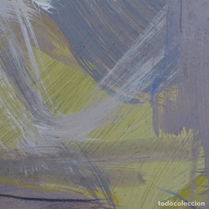 Arte: Gran óleo abstracto de Elvira fustero.1989. - Foto 10 - 197814308
