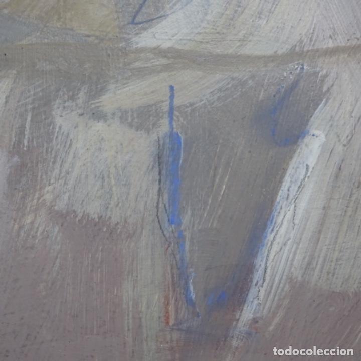 Arte: Gran óleo abstracto de Elvira fustero.1989. - Foto 11 - 197814308