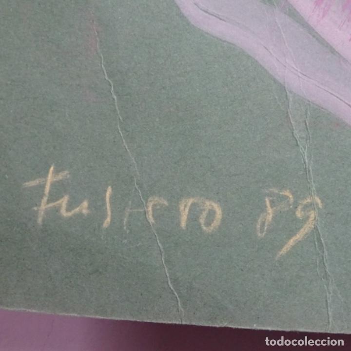 Arte: Gran óleo abstracto de Elvira fustero.1989. - Foto 14 - 197814308