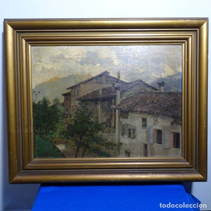 Arte: Excelente óleo sobre tabla de raffaele tafuri (salermo 1857-venezia 1929).la pinacoteca.venecia? - Foto 2 - 197825891