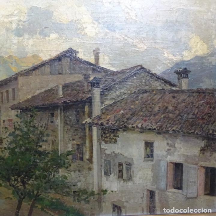Arte: Excelente óleo sobre tabla de raffaele tafuri (salermo 1857-venezia 1929).la pinacoteca.venecia? - Foto 4 - 197825891