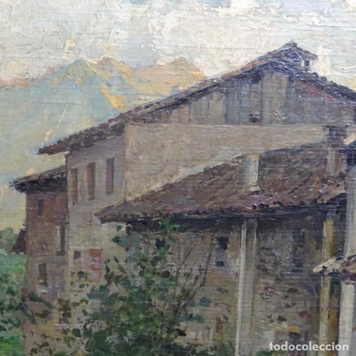 Arte: Excelente óleo sobre tabla de raffaele tafuri (salermo 1857-venezia 1929).la pinacoteca.venecia? - Foto 5 - 197825891