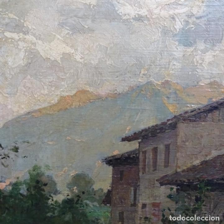 Arte: Excelente óleo sobre tabla de raffaele tafuri (salermo 1857-venezia 1929).la pinacoteca.venecia? - Foto 6 - 197825891