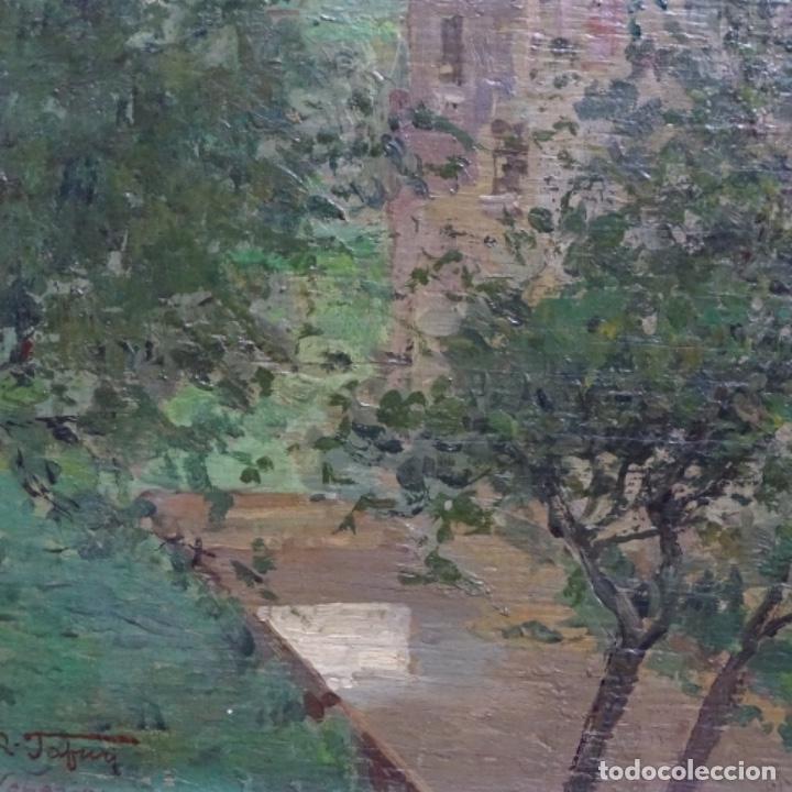 Arte: Excelente óleo sobre tabla de raffaele tafuri (salermo 1857-venezia 1929).la pinacoteca.venecia? - Foto 7 - 197825891
