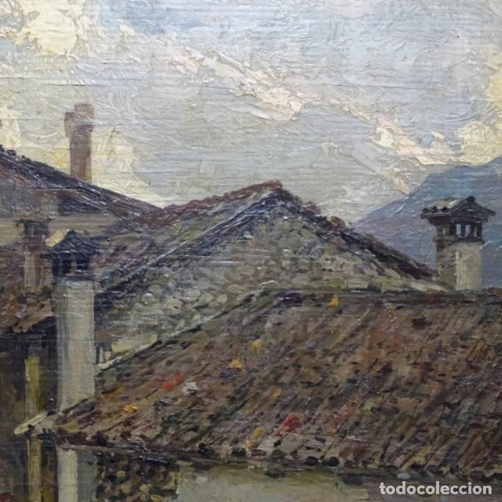 Arte: Excelente óleo sobre tabla de raffaele tafuri (salermo 1857-venezia 1929).la pinacoteca.venecia? - Foto 8 - 197825891