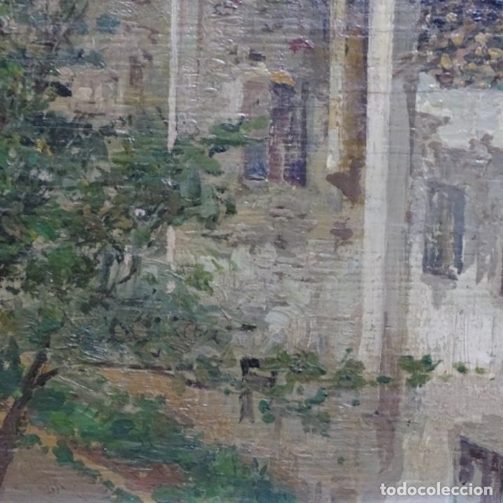 Arte: Excelente óleo sobre tabla de raffaele tafuri (salermo 1857-venezia 1929).la pinacoteca.venecia? - Foto 9 - 197825891