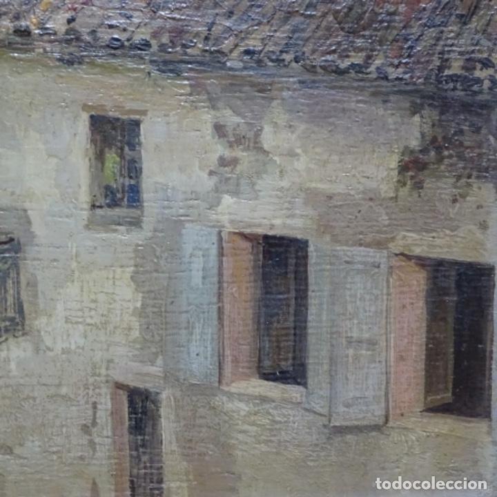 Arte: Excelente óleo sobre tabla de raffaele tafuri (salermo 1857-venezia 1929).la pinacoteca.venecia? - Foto 10 - 197825891