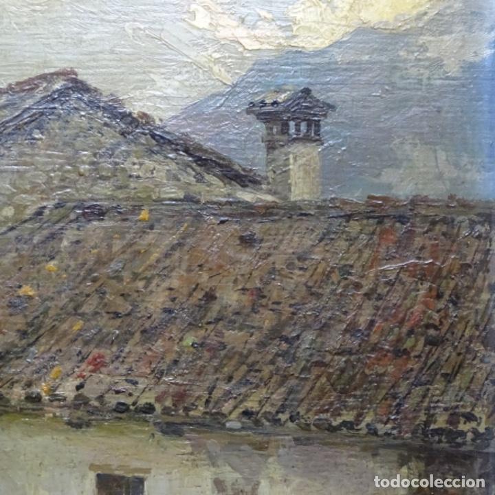 Arte: Excelente óleo sobre tabla de raffaele tafuri (salermo 1857-venezia 1929).la pinacoteca.venecia? - Foto 11 - 197825891