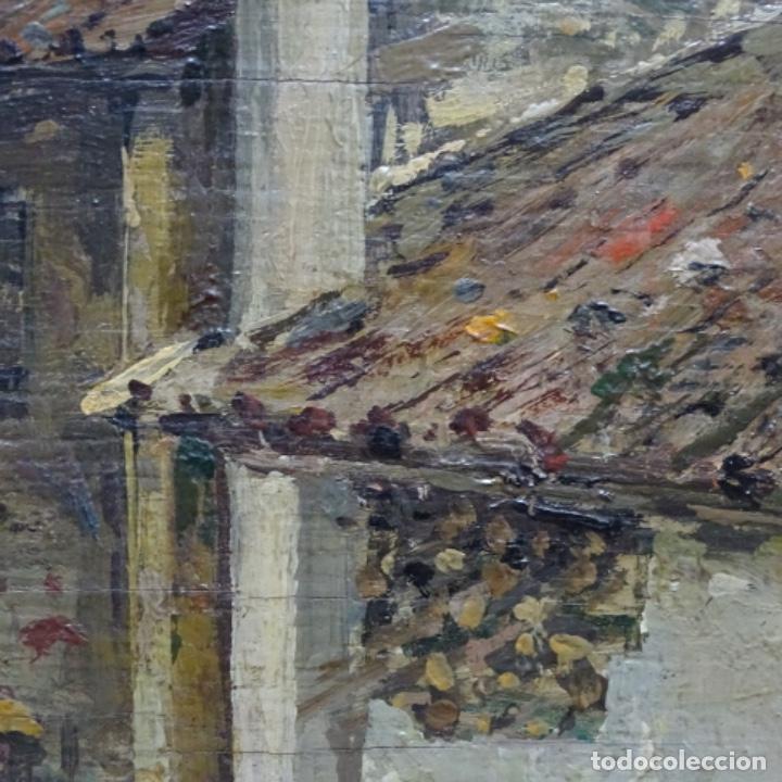 Arte: Excelente óleo sobre tabla de raffaele tafuri (salermo 1857-venezia 1929).la pinacoteca.venecia? - Foto 13 - 197825891