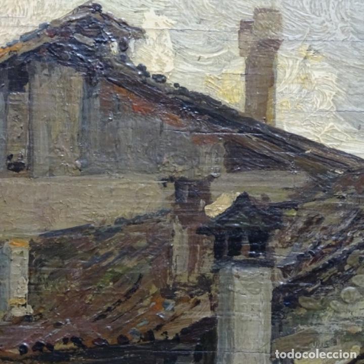 Arte: Excelente óleo sobre tabla de raffaele tafuri (salermo 1857-venezia 1929).la pinacoteca.venecia? - Foto 14 - 197825891