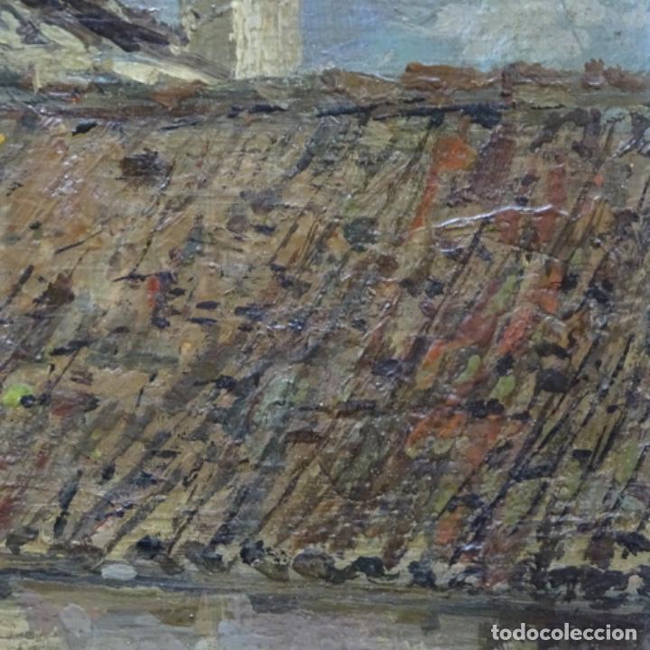 Arte: Excelente óleo sobre tabla de raffaele tafuri (salermo 1857-venezia 1929).la pinacoteca.venecia? - Foto 16 - 197825891
