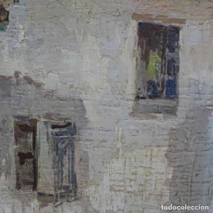 Arte: Excelente óleo sobre tabla de raffaele tafuri (salermo 1857-venezia 1929).la pinacoteca.venecia? - Foto 17 - 197825891