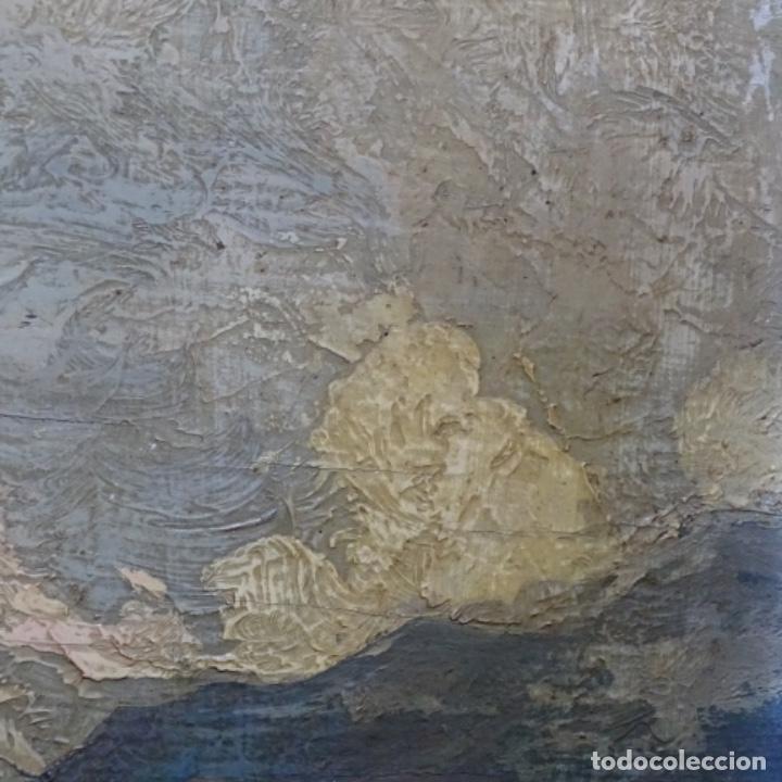 Arte: Excelente óleo sobre tabla de raffaele tafuri (salermo 1857-venezia 1929).la pinacoteca.venecia? - Foto 18 - 197825891