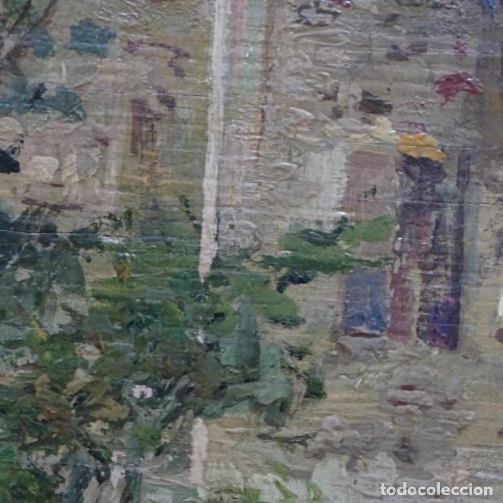 Arte: Excelente óleo sobre tabla de raffaele tafuri (salermo 1857-venezia 1929).la pinacoteca.venecia? - Foto 19 - 197825891