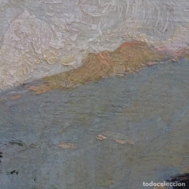Arte: Excelente óleo sobre tabla de raffaele tafuri (salermo 1857-venezia 1929).la pinacoteca.venecia? - Foto 21 - 197825891