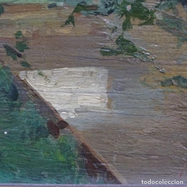 Arte: Excelente óleo sobre tabla de raffaele tafuri (salermo 1857-venezia 1929).la pinacoteca.venecia? - Foto 22 - 197825891