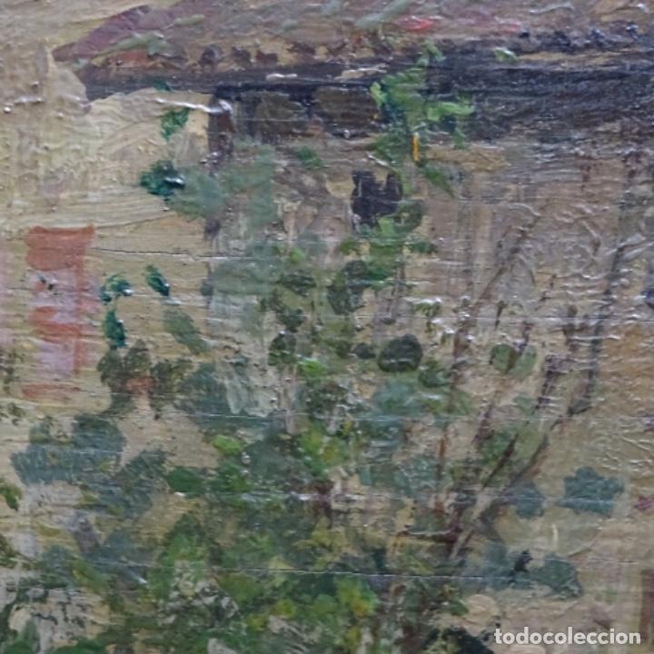 Arte: Excelente óleo sobre tabla de raffaele tafuri (salermo 1857-venezia 1929).la pinacoteca.venecia? - Foto 23 - 197825891