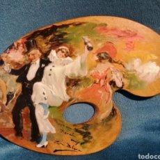 Arte: PALETA PINTADA POR LUIS BLESA Y PRATS. CARNAVAL. Lote 197856860