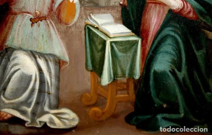 Arte: ÓLEO S/COBRE -ANUNCIACIÓN-. ESCUELA ITALIANA FINALES SIGLO XVII. DIMENSIONES.- 31.5X26 CMS - Foto 8 - 197926362