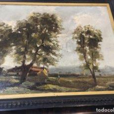 Arte: (M) RAFAEL FERNÁNDEZ DE SOTO ANTIGUO PAISAJE ÓLEO SOBRE TELA OLOT MCMXLVII DE SOTO . TELA 41X32,5 CM. Lote 197932616