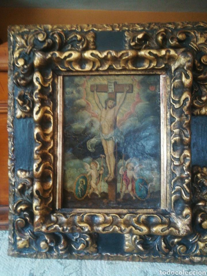 ÓLEO SOBRE COBRE. ESCUELA COLONIAL DEL XVII (Arte - Pintura - Pintura al Óleo Antigua siglo XVII)