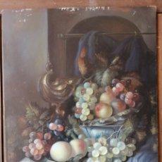 Arte: OLEO SOBRE TABLA BODEGON GALAN?. Lote 198063303
