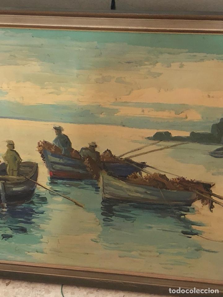 Arte: Bonito óleo sobre lienzo firmado, gran tamaño - Foto 3 - 198089245
