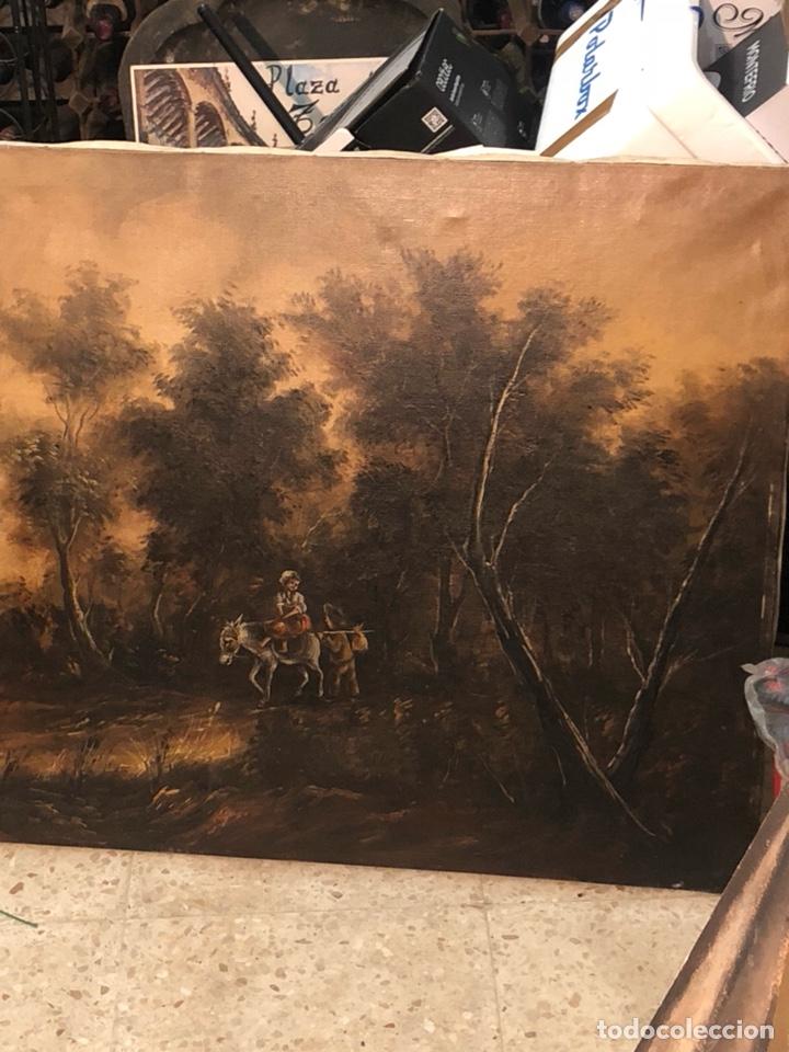 Arte: Bonito óleo sobre lienzo firmado, gran tamaño - Foto 2 - 198089455