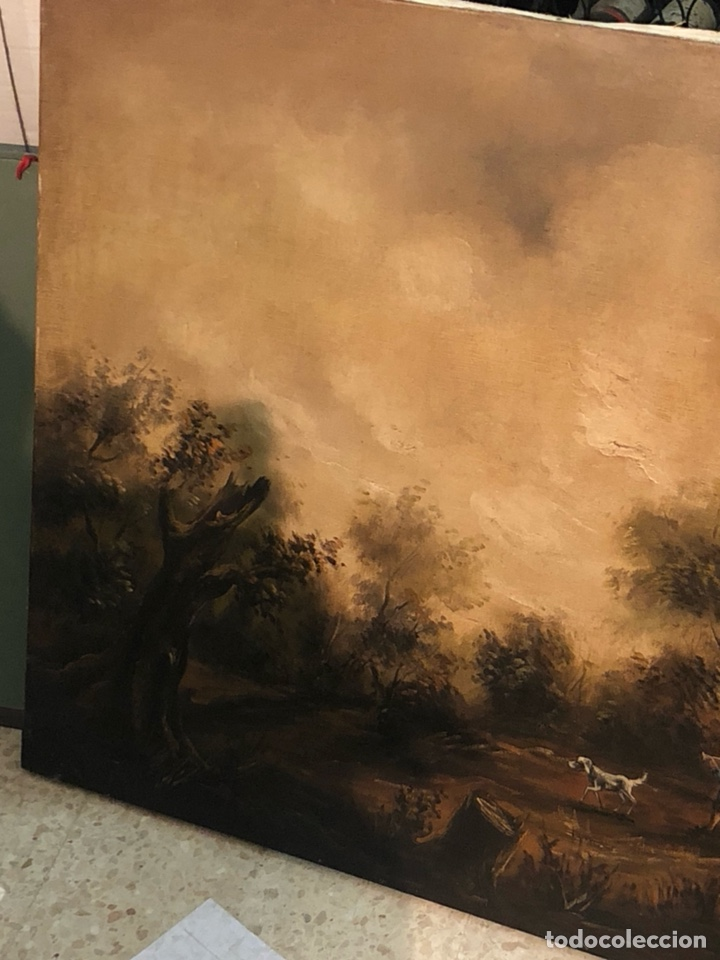 Arte: Bonito óleo sobre lienzo firmado, gran tamaño - Foto 7 - 198089455