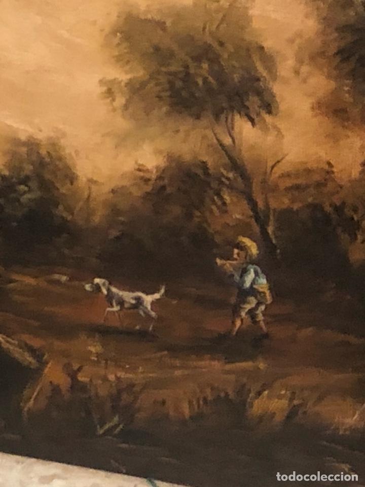 Arte: Bonito óleo sobre lienzo firmado, gran tamaño - Foto 8 - 198089455