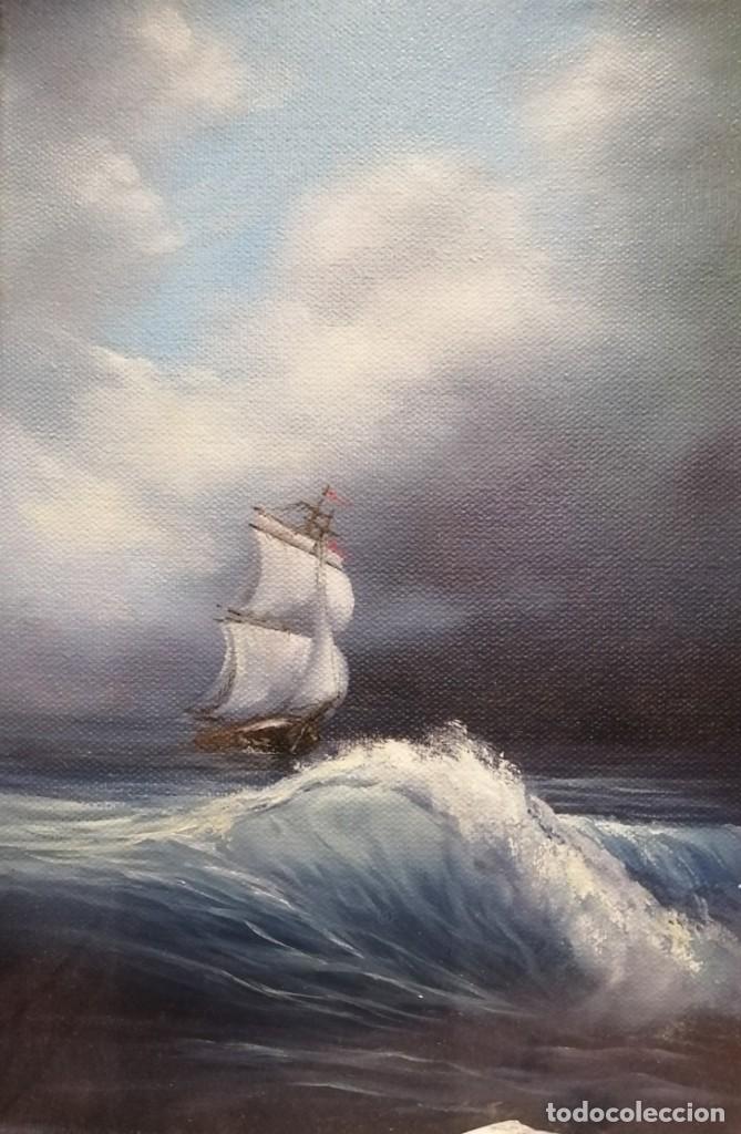OLEO SOBRE LIENZO DE VIKTORIA RODIONOVA. LA GRAN TORMENTA (Arte - Pintura - Pintura al Óleo Moderna sin fecha definida)