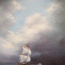 Arte: OLEO SOBRE LIENZO DE VIKTORIA RODIONOVA. LA GRAN TORMENTA. Lote 198129983