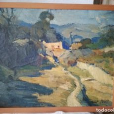 Art: JOSEP M. NUET MARTI (BARCELONA, 1914-1998). PAISAJE IMPRESIONISTA CATALÁN.. Lote 198150741