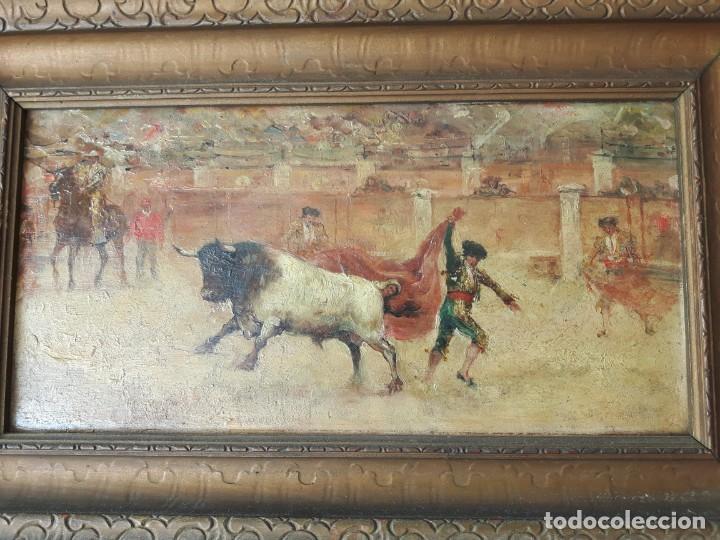 LA CORRIDA DE TOROS (Arte - Pintura - Pintura al Óleo Moderna siglo XIX)