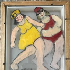 Arte: BAÑISTAS POSANDO. Lote 198318632