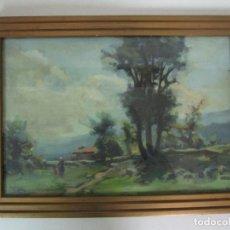 Arte: ÓLEO SOBRE TABLEX - BONITO PAISAJE - ESCUELA PAISAJISTA DE OLOT . Lote 198324010