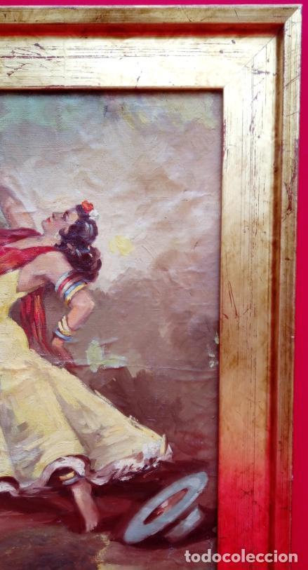 Arte: ÓLEO S/LIENZO, MUY BIEN ENMARCADO, DE FÉLIX GIL DÍAZ, PINTOR DE MÁLAGA. DIM.- 52X46 CMS. - Foto 6 - 198325247