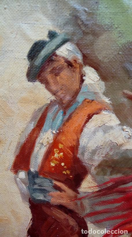 Arte: ÓLEO S/LIENZO, MUY BIEN ENMARCADO, DE FÉLIX GIL DÍAZ, PINTOR DE MÁLAGA. DIM.- 52X46 CMS. - Foto 9 - 198325247