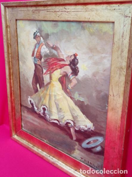 Arte: ÓLEO S/LIENZO, MUY BIEN ENMARCADO, DE FÉLIX GIL DÍAZ, PINTOR DE MÁLAGA. DIM.- 52X46 CMS. - Foto 10 - 198325247
