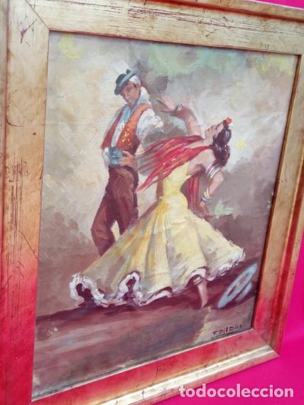 Arte: ÓLEO S/LIENZO, MUY BIEN ENMARCADO, DE FÉLIX GIL DÍAZ, PINTOR DE MÁLAGA. DIM.- 52X46 CMS. - Foto 11 - 198325247