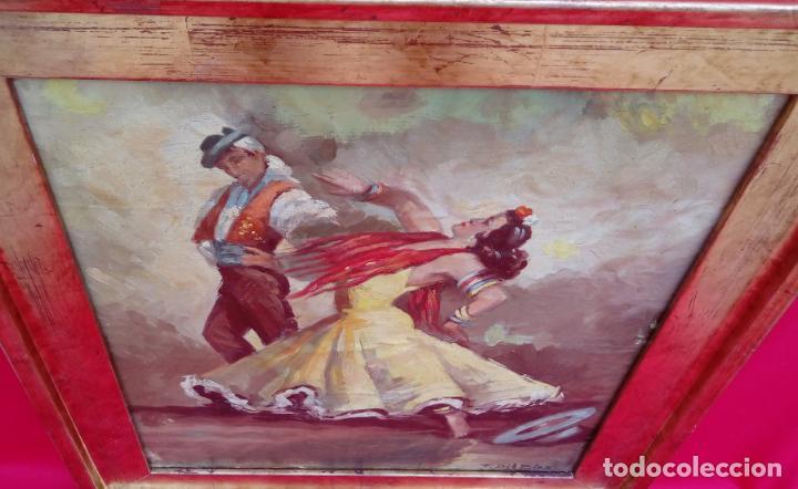 Arte: ÓLEO S/LIENZO, MUY BIEN ENMARCADO, DE FÉLIX GIL DÍAZ, PINTOR DE MÁLAGA. DIM.- 52X46 CMS. - Foto 12 - 198325247